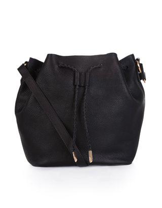 e103124b8054 Leather Slouchy Drawstring Duffle Bag