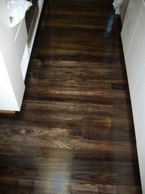 Chocolate Brown Stained Floor Beautiful Our Tiny Home