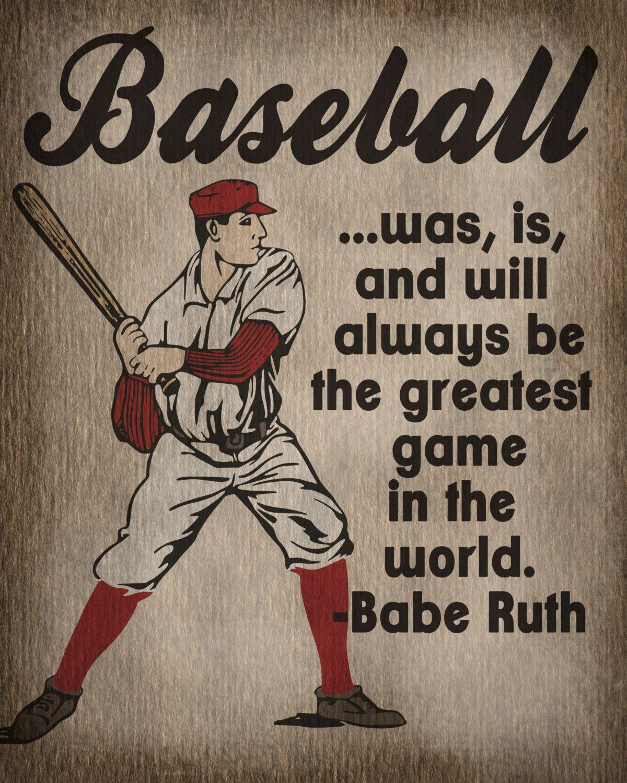 Sport Print Vintage Baseball