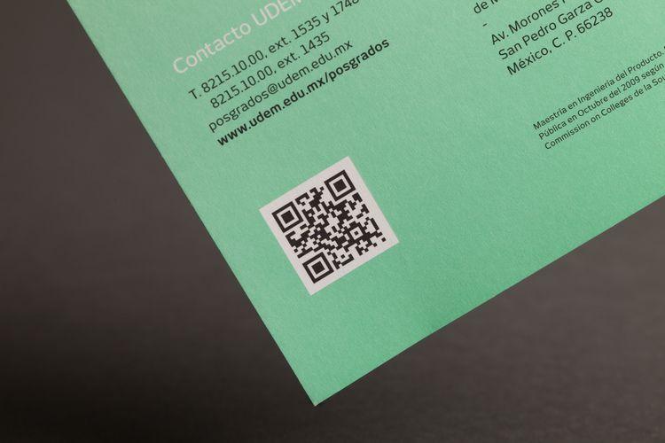UDEM Brochure QR Code Close Up Design By La Tortillera