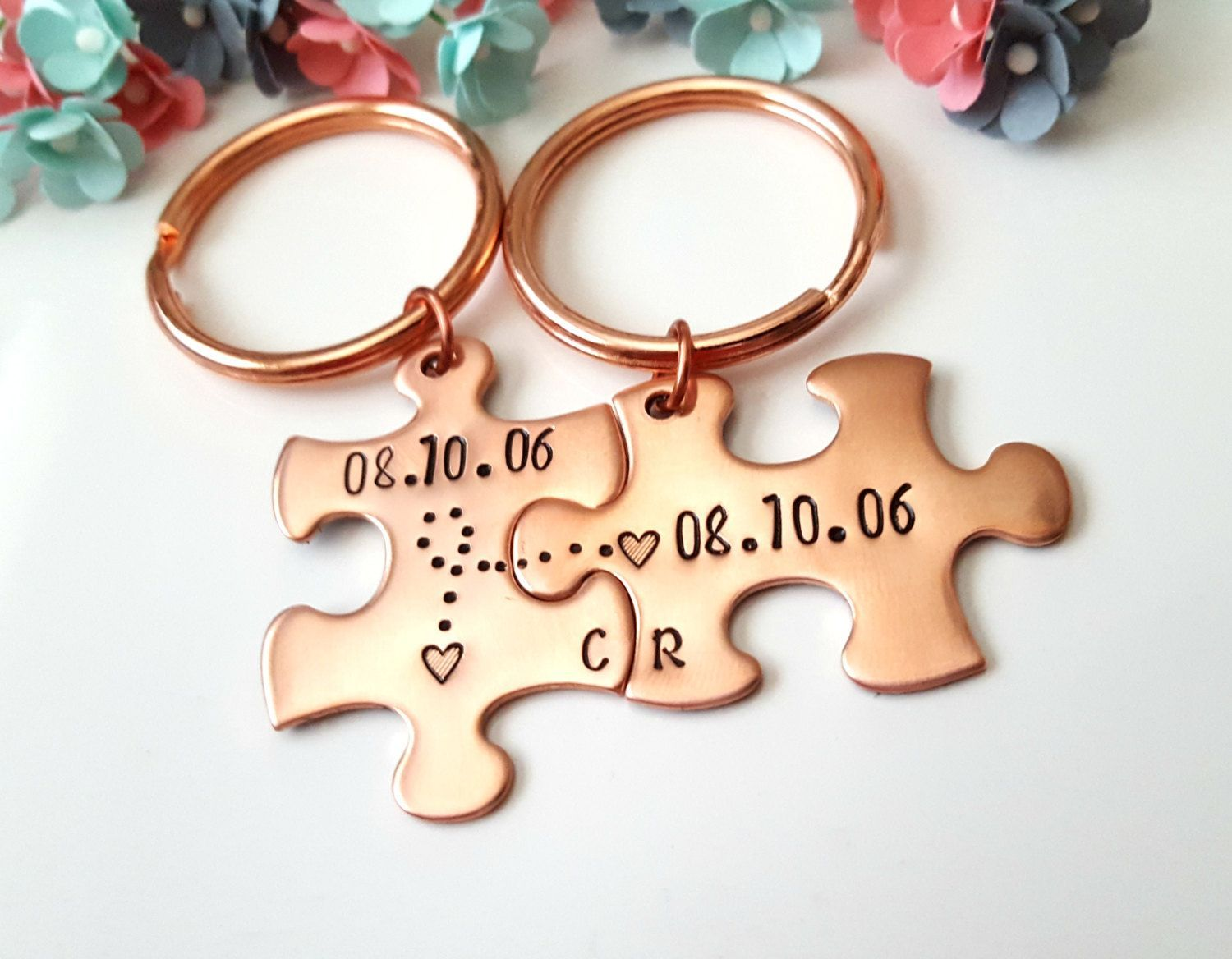Anniversary Gifts For Boyfriend Couple Keychains Personalized