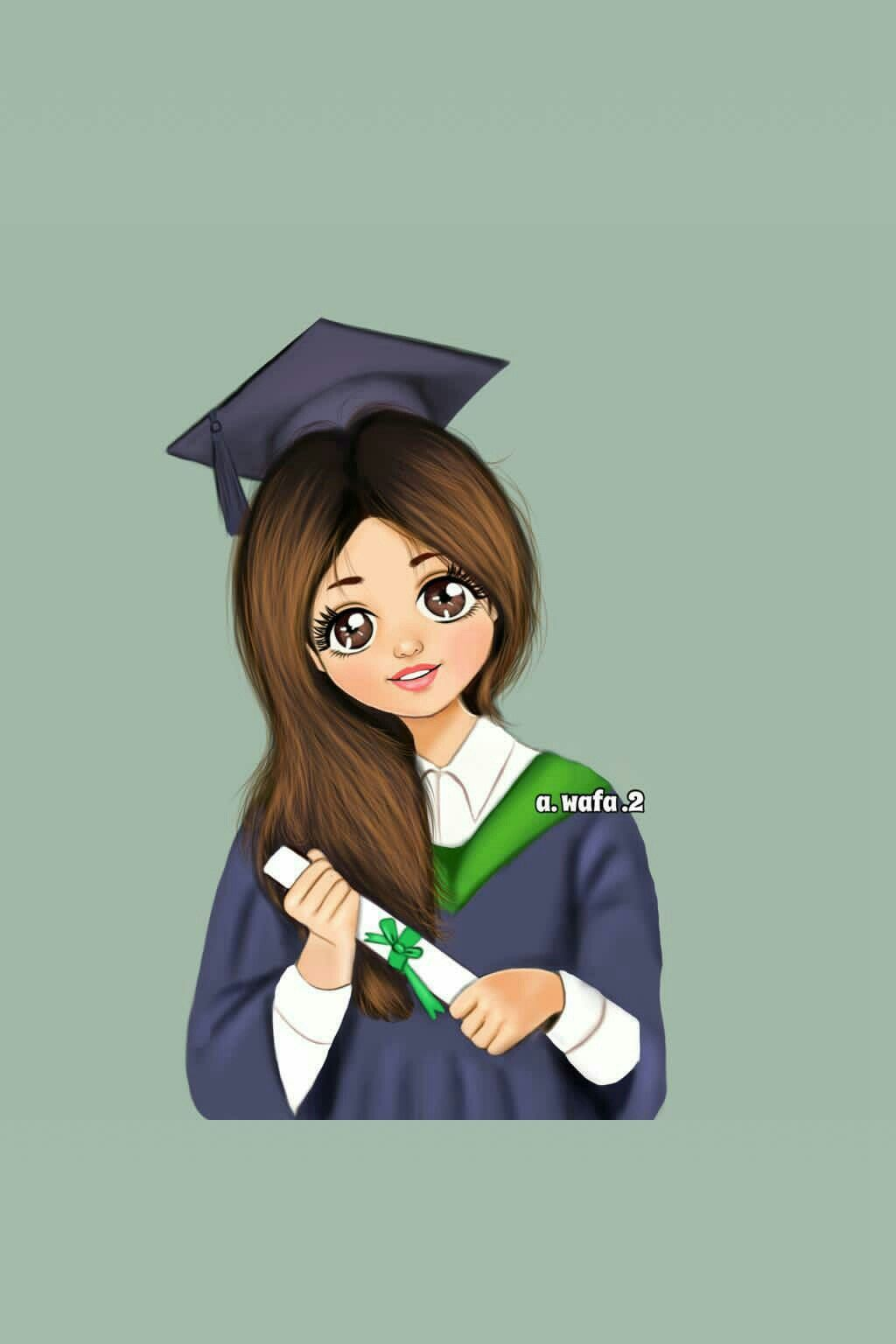 Pin By Princess Samah On A Wafa 2 Graduation Girl Graduation Art Graduation Drawing
