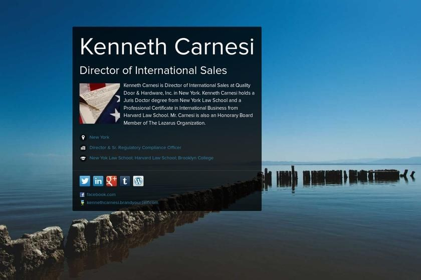 Kenneth Carnesi's page on about.me – http://about.me/kennethcarnesi