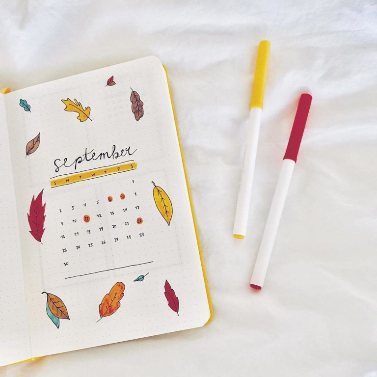 10 Bullet Journal September Cover Pages For Inspiration #bulletjournalideas