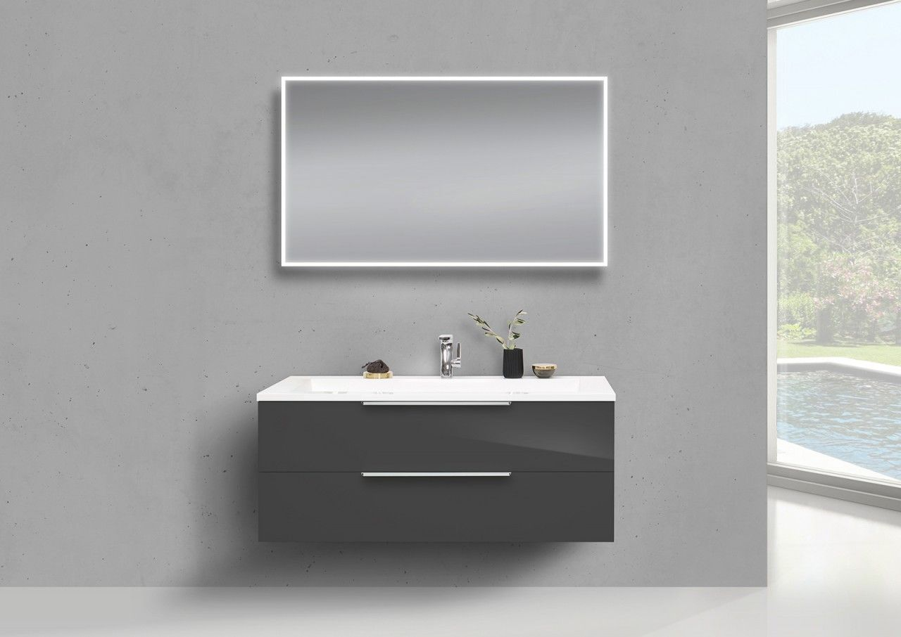 Badmöbel Set CUBO Doppelwaschtisch 120 Cm Evermite, Unterschrank Mit Led  Spiegel Jetzt Bestellen Unter: