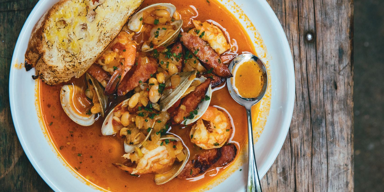 Shrimp and clam stew with tomato-fennel broth from Sylvain in New Orleans via The Local Palate
