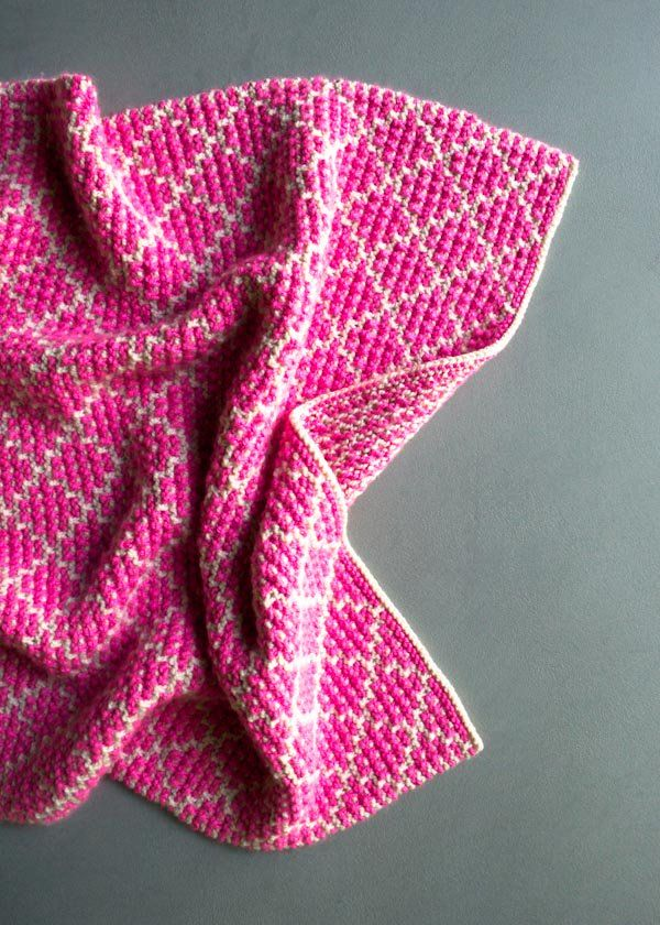 834a5e5c7a12 Mosaic Baby Blanket -- free knitting pattern