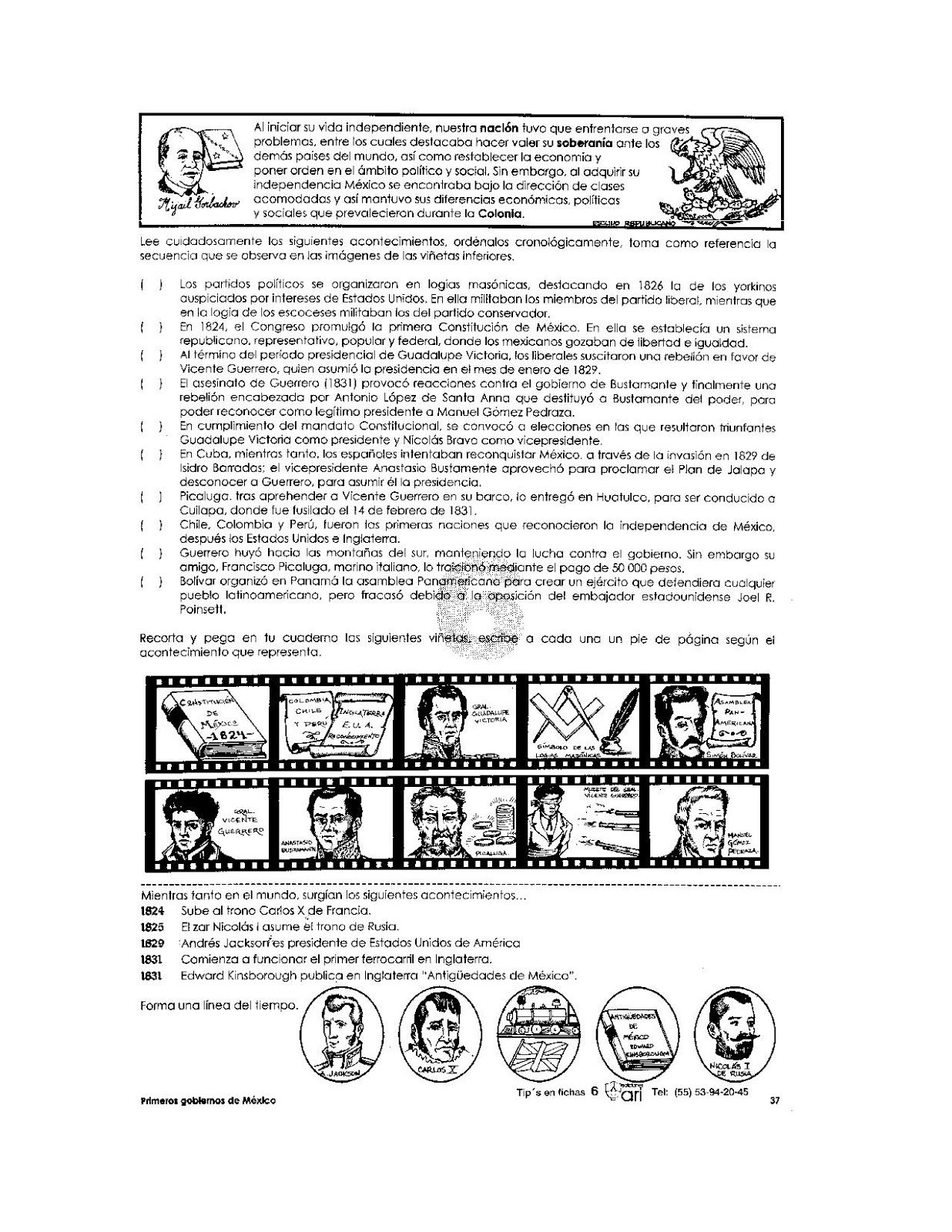 La Consumacion De La Independencia Ejercicio De La Consumacion Primarias Material Educativo Mes De La Herencia Hispana