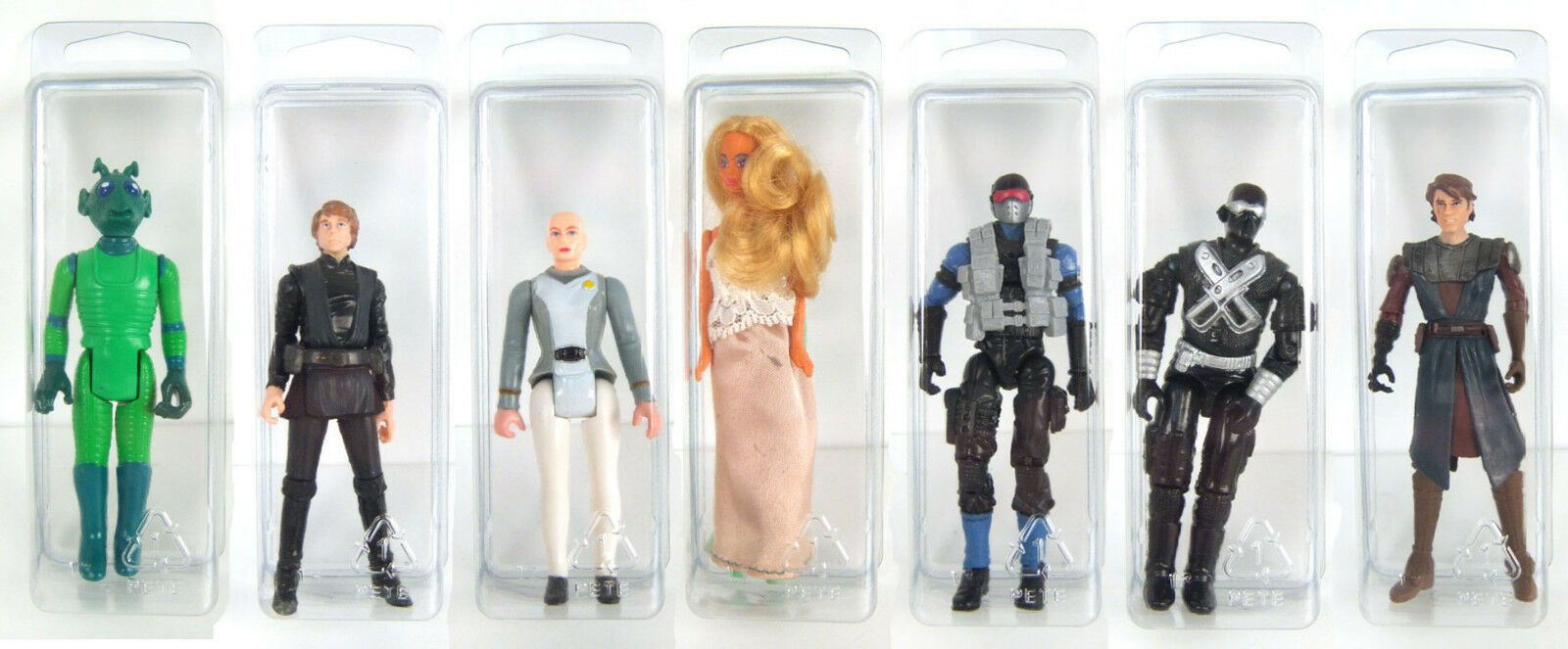 STAR WARS BLISTER CASE Action Figure Display Protective Clamshell SMALL