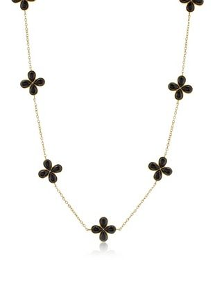 63% OFF Belargo Black Flower Station Necklace