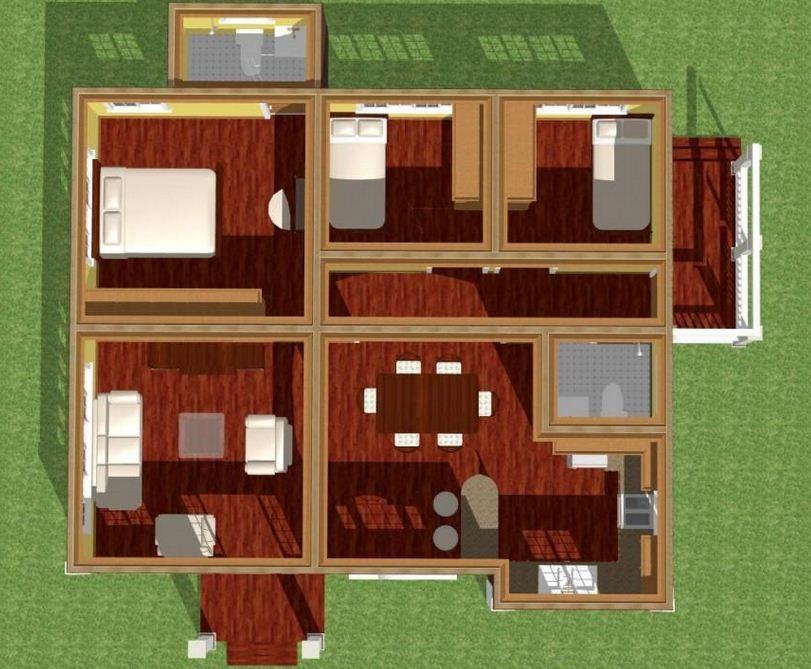 Plano de casa moderna de 150 m2 casas arq pinterest for Casa moderna 60 m2