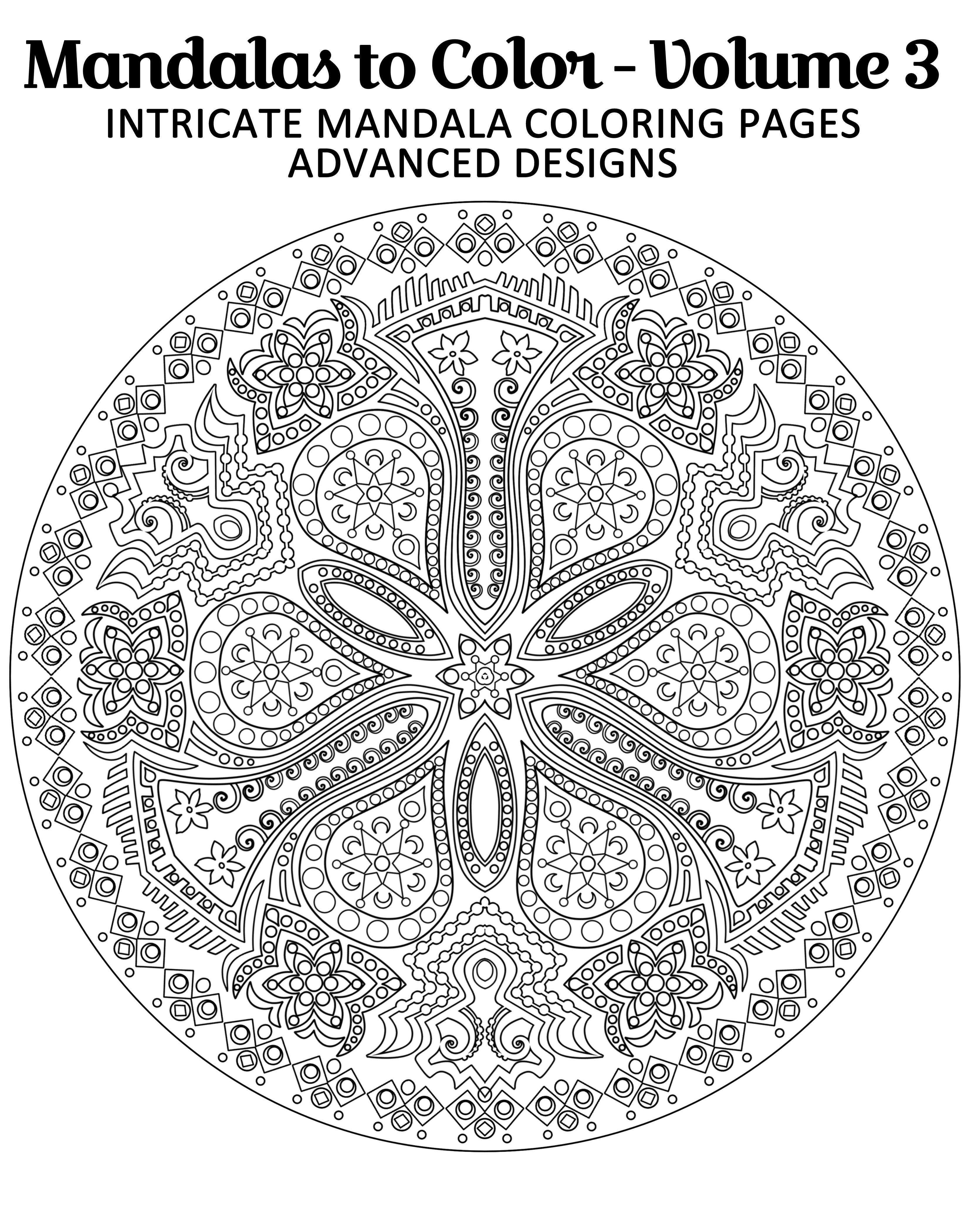 Free Mandala Coloring Page From Mandalas To Color Intricate Mandala Coloring Pages Advanced Designs Mandala Coloring Pages Mandala Coloring Coloring Pages