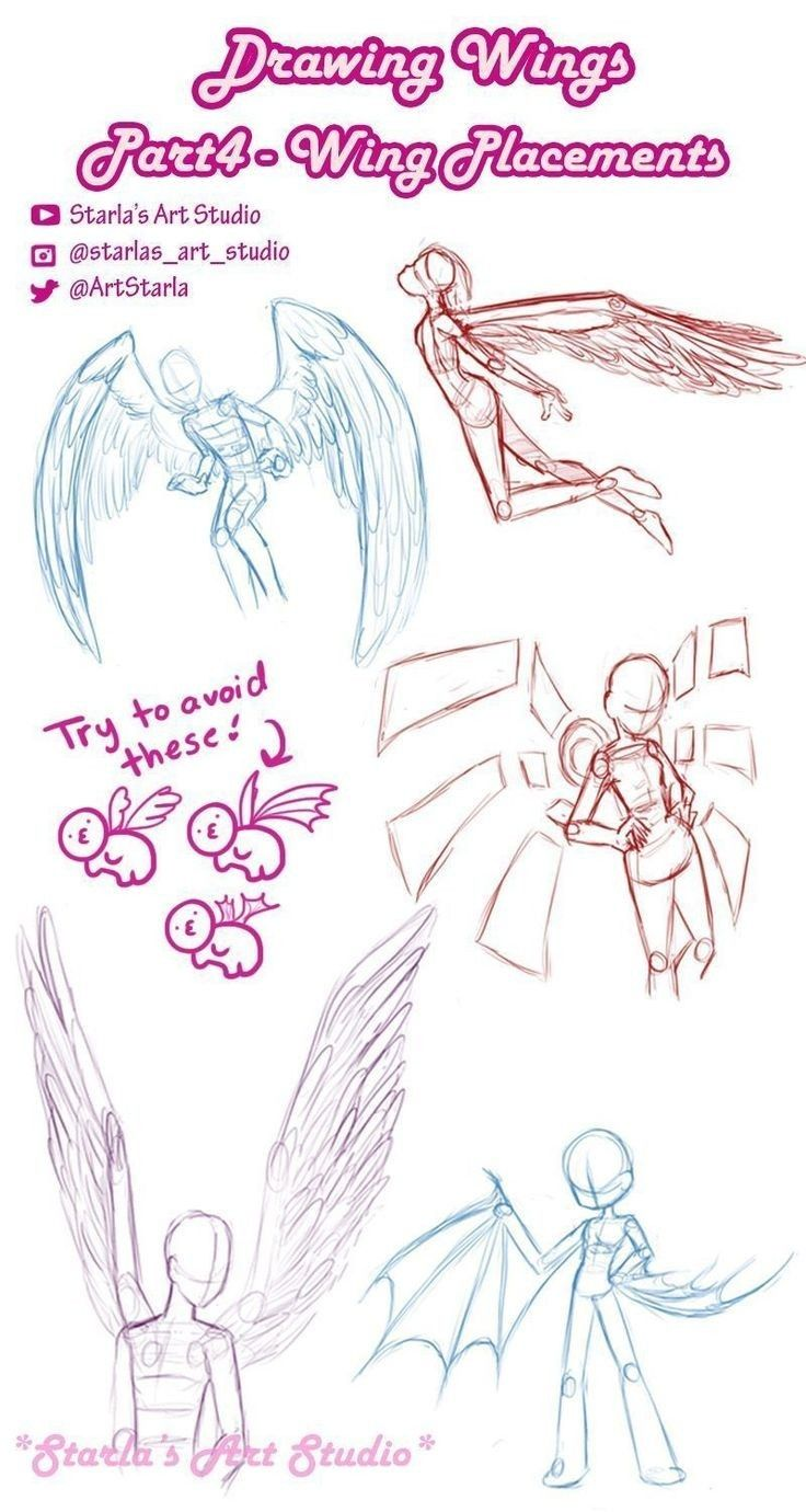 Pin By Levitus On Anime Drawings Tutorials In 2020 Anime Poses Reference Wings Drawing Art Reference Poses