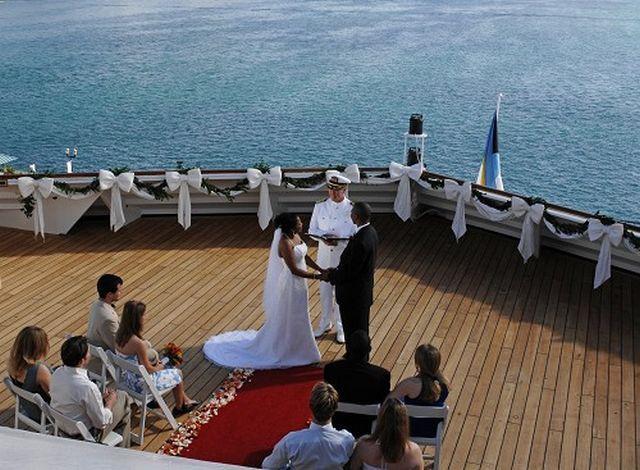 Deck Wedding On A Ship Cruise Ship Wedding Carnival Cruise Wedding Disney Cruise Wedding