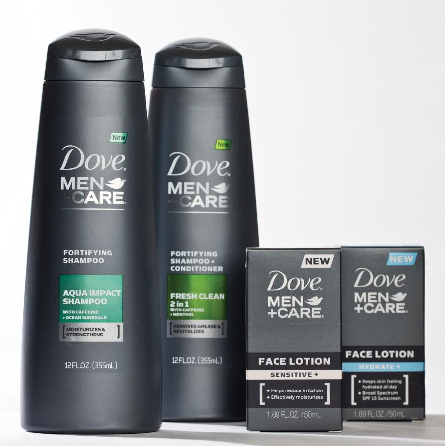 Dove Men+care range. Men's skin care is a relatively new