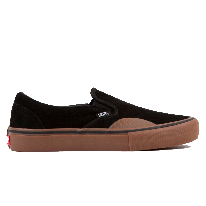 Vans Slip On Pro Toe Cap Black Gum Vn0a347vuhx1 Consortium Vans Slip On Pro Vans Slip On Black Gums