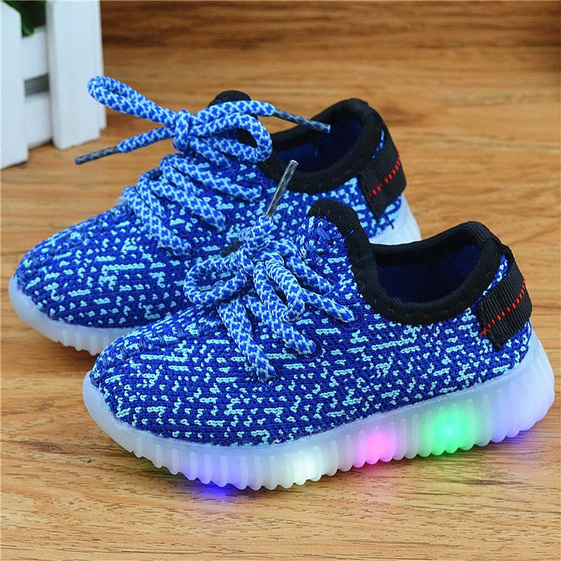 Eur21-36 // kids new fashion children shoes with led light up luminous sneakers glowing boys&girls shoes