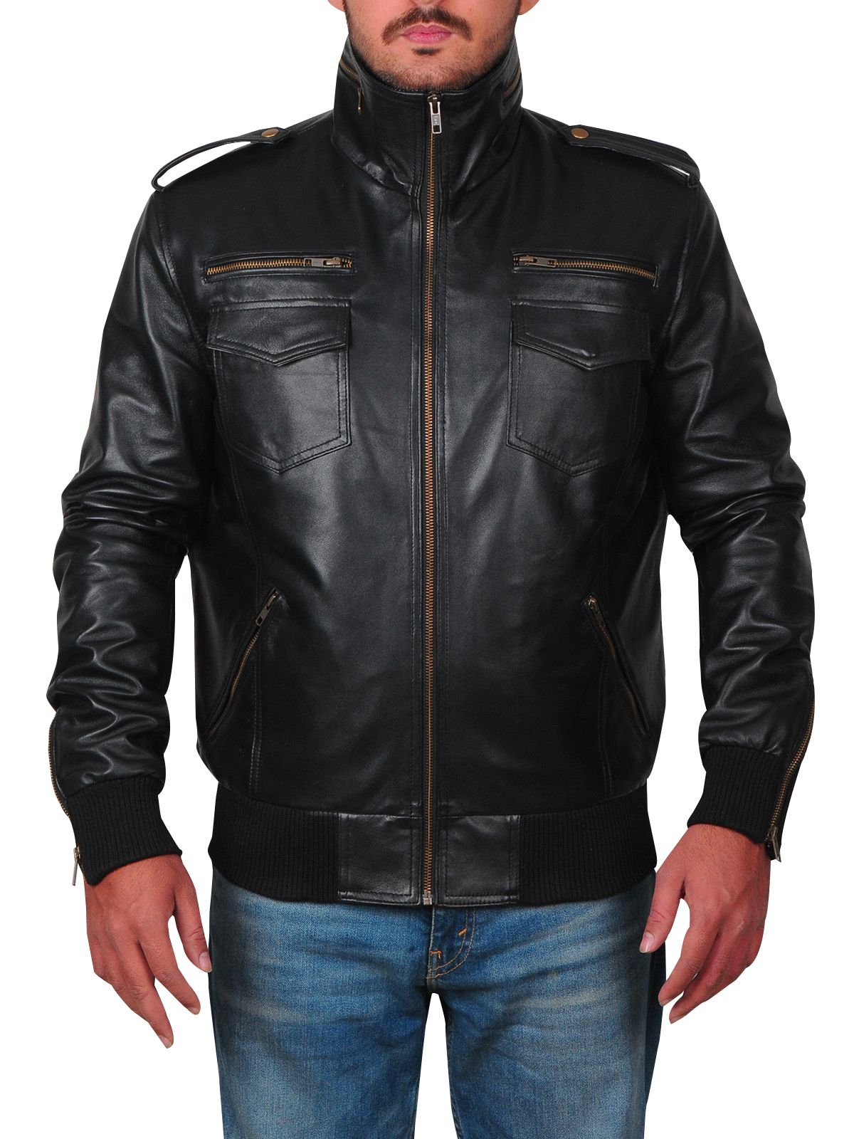 Pin On Men Leather Jacket [ 1600 x 1200 Pixel ]
