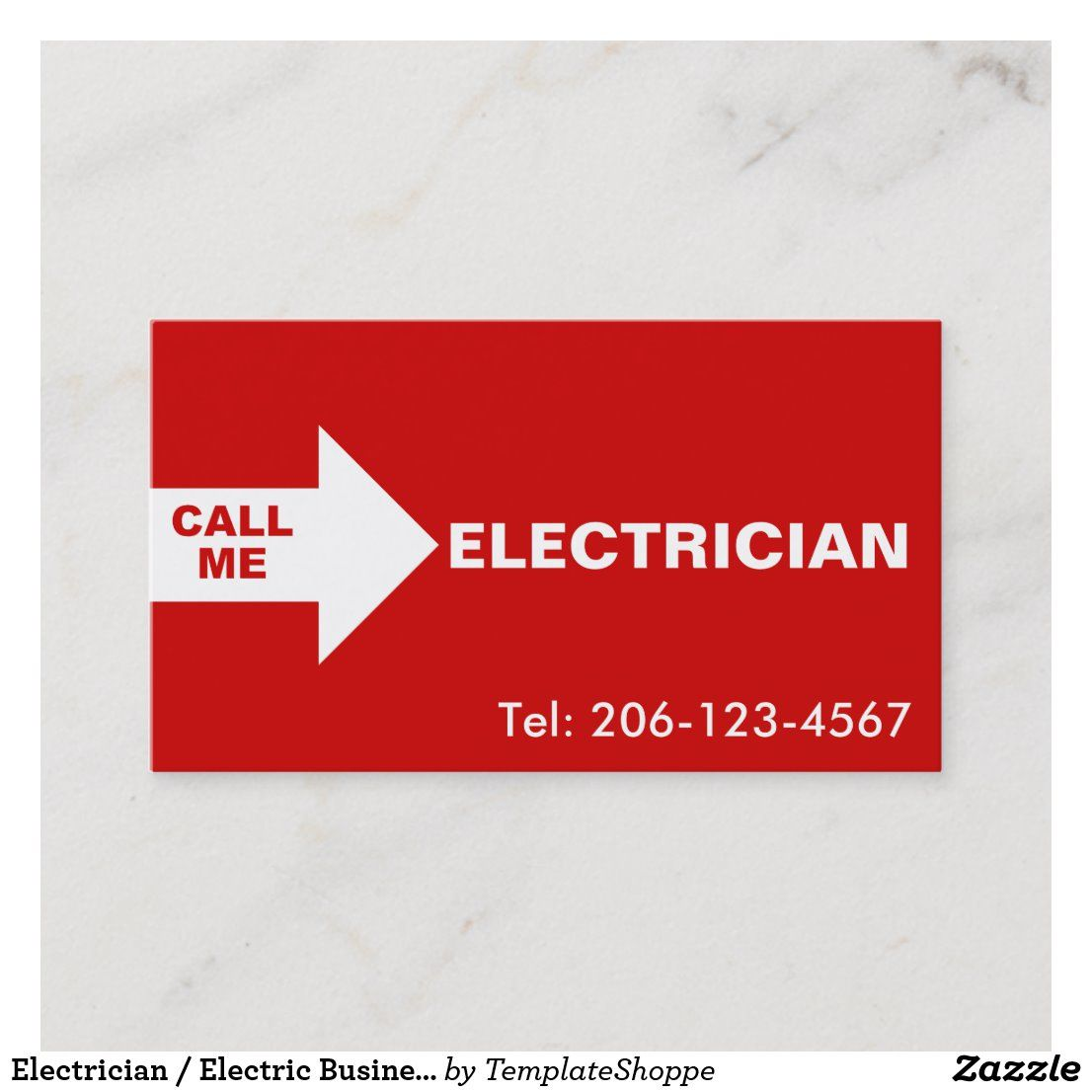 Pin On Electrician Business Card Templates