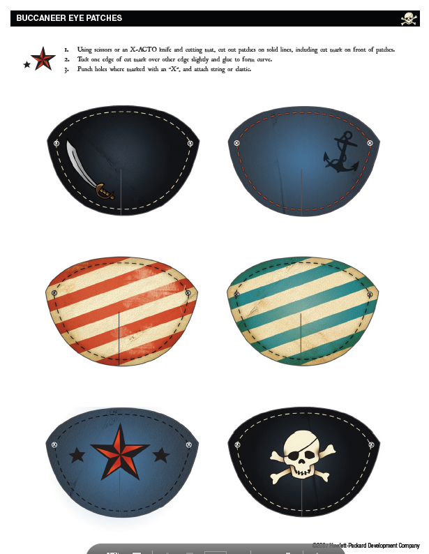 Eye Patch Printables Found At Http Opti Snapfish Com Db Usa Downloads Printables Pirate Pa Pirate Themed Birthday Mermaid Pirate Party Pirate Birthday Party