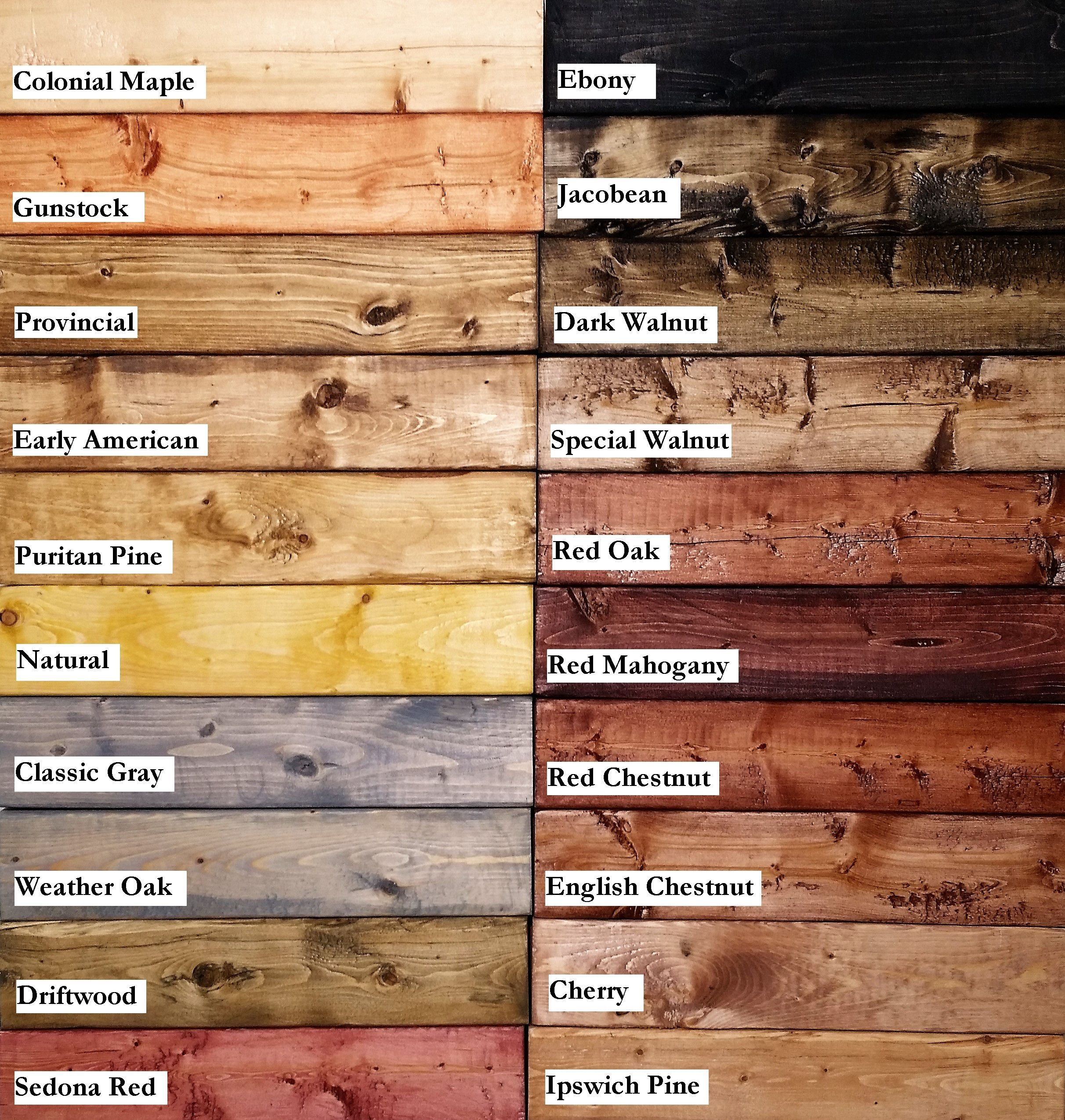Stain samples woodworking woodwork and dark walnut