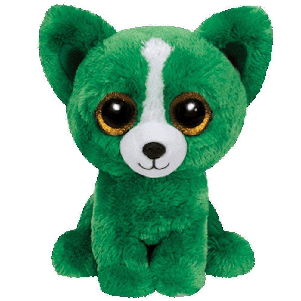 0358af44bdd Ty Beanie Boos - Dill Green (2015 Trade Show Exclusive) - Chihuahua Dog Big  Glitter Eyes - 6 Inch   15 cm Buddy Size - Plush Stuffed Animal Toys  Birthday ...