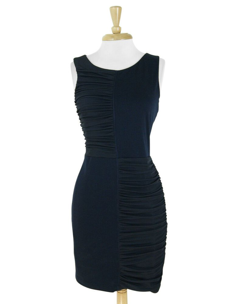 596f1c5ad25b8 BCBG Max Azria Dark Navy Ruched Jersey & Ponte Knit Fitted Sheath Dress Size  M #fashion #clothing #shoes #accessories #womensclothing #dresses (ebay  link)