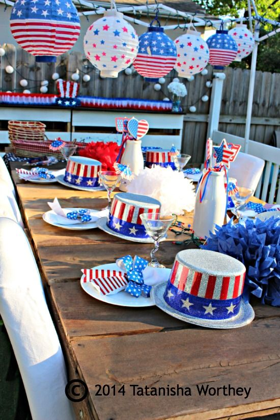 These Fun Patriotic Table Party Ideas Are Bound To Make Your Outdoor Decor Feel More Festive Fourth Of July Decorations Table Decorations Birthday Party Crafts
