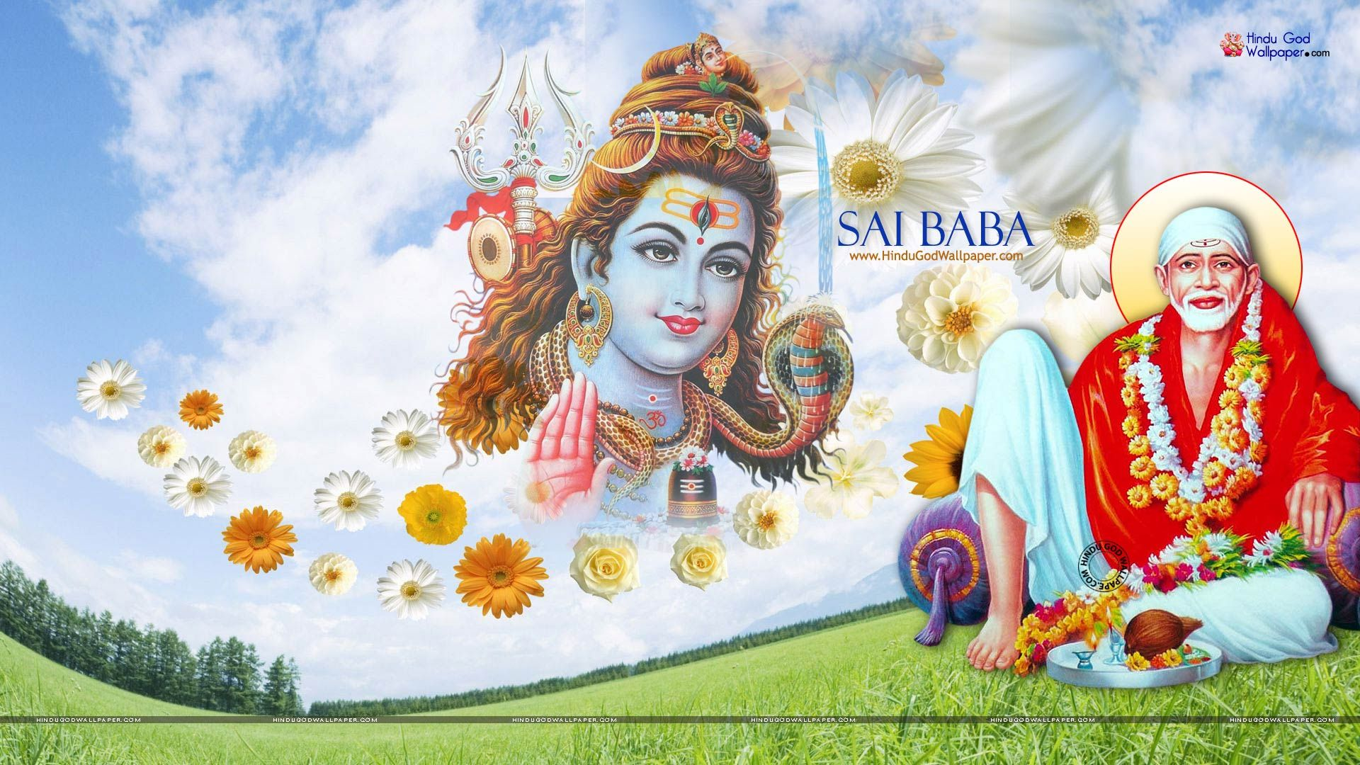 Sai Baba Hd Wallpaper 1080p Full Size Free Download With Images
