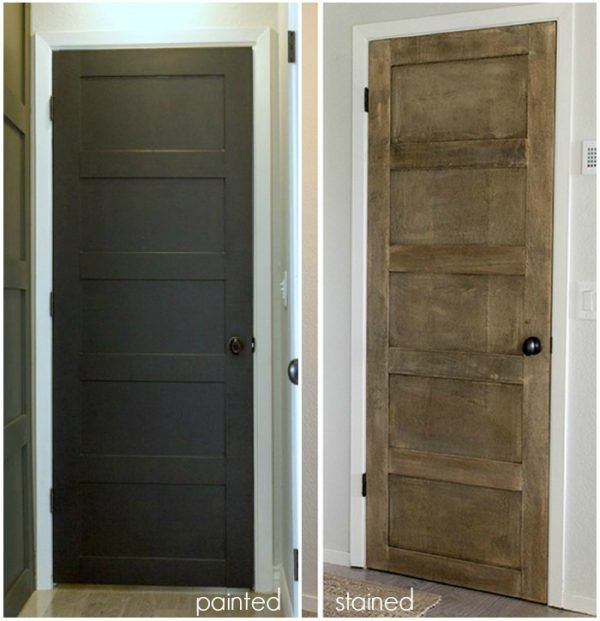 10 Ways To Dress Up Boring Interior Doors Picky Stitch Painted Interior Doors Bifold Doors Hollow Core Interior Doors