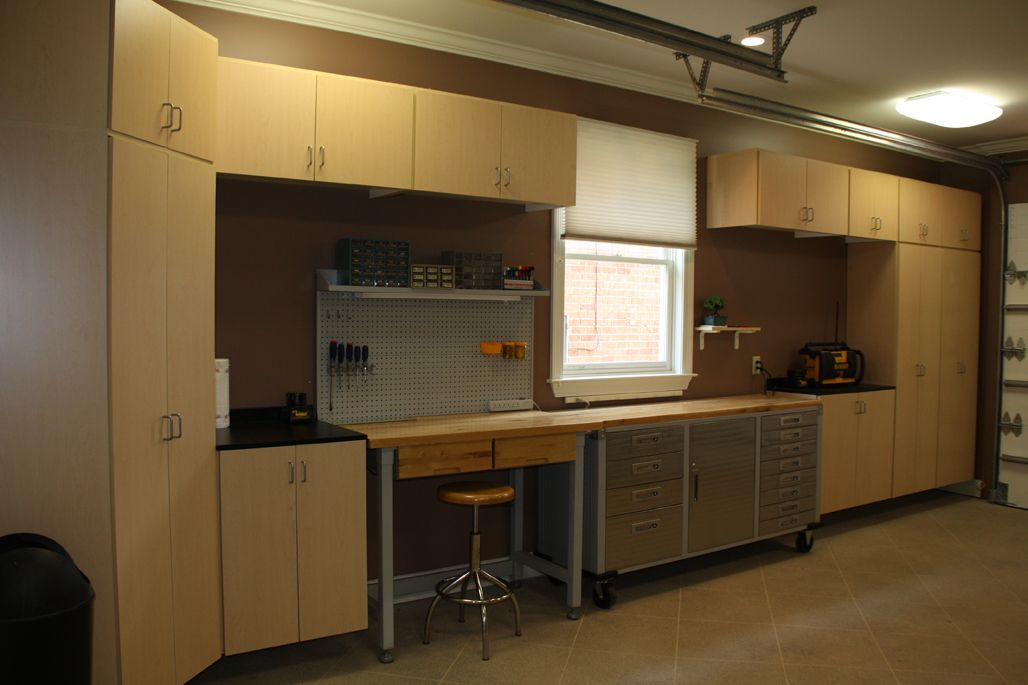Nice Light Maple Melamine Garage Cabinets By Gsc To Help Clean Up The