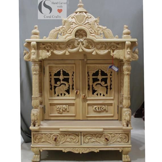 Wooden Temple With Doors For Home Pooja Room Door Design Wooden Temple For Home