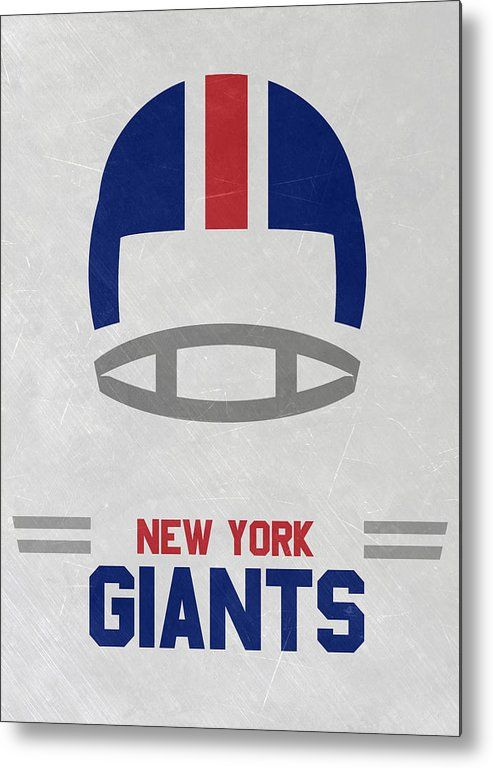 Giants Metal Print featuring the mixed media New York Giants Vintage Art by Joe…