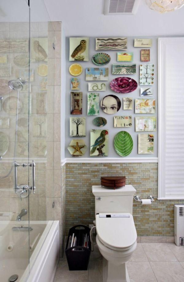 Boston Townhouse Eclectic Bathroom Modern Design Interior Quirky Small