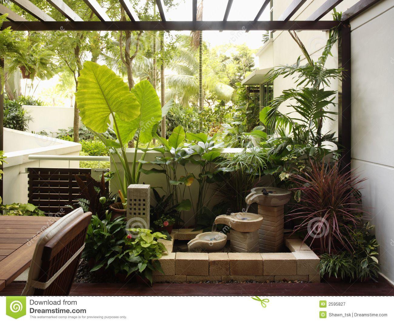 Interior design - garden  Garden style decorating, Indoor garden