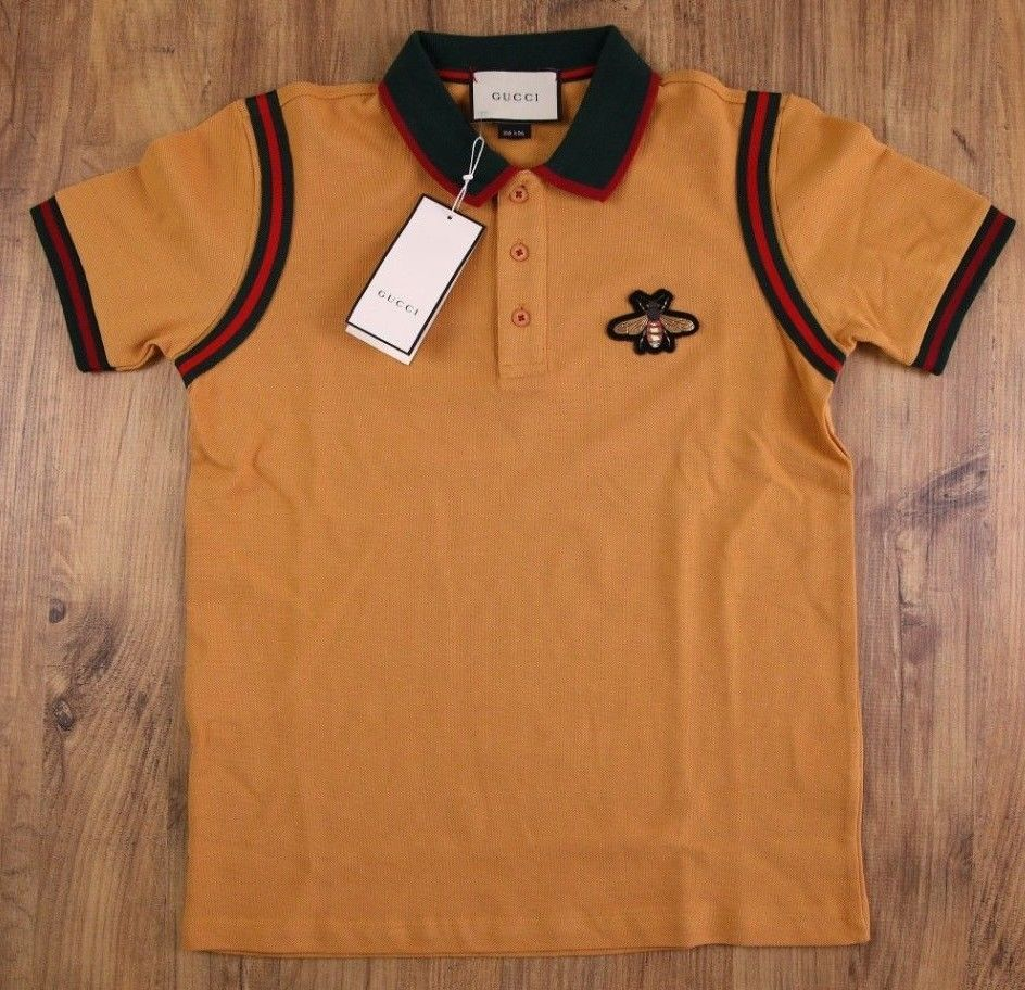 93808e1c2d9 GUCCI Polo T Shirt Dark Yellow Casual Style Size M Medium New Mens Genuine   fashion  clothing  shoes  accessories  mensclothing  shirts (ebay link)