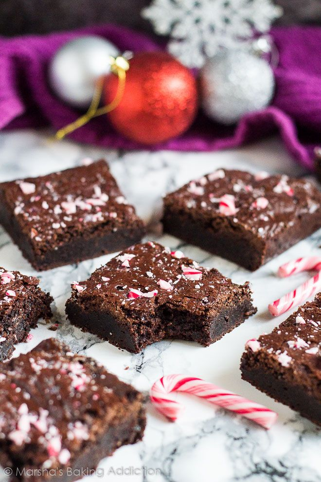 Christmas Peppermint Mocha Brownies