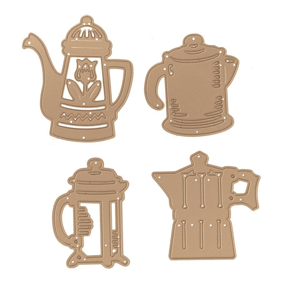 Shapeabilities Coffee Brewing Etched Dies Cuppa Coffee, Cuppa Tea Collection by Sharyn Sowell #cuppatea