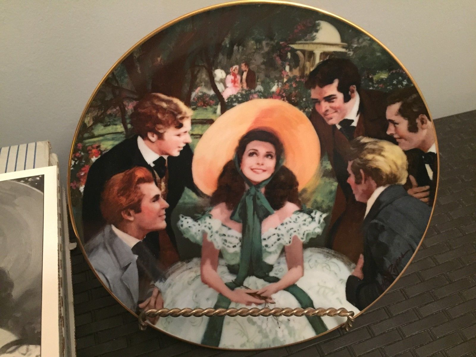 gone the wind scarlett collector plate gone the wind gone the wind scarlett her suitors the bradford exchange collector plate