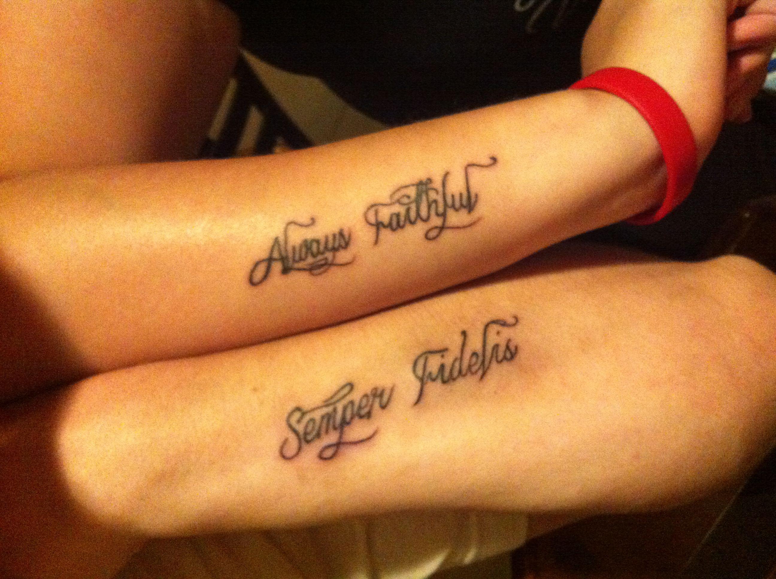 usmc wedding band Wedding bands Couple tattoos USMC tattoos