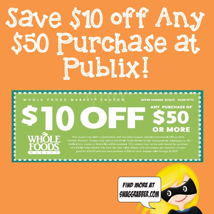 image regarding Whole Foods Printable Coupons named AdMax is selling a printable $10 off $50 Full Food items coupon