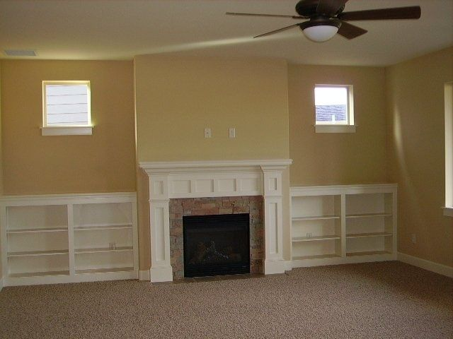 bookcase fireplace | Craftsman Style Fireplaces With ...