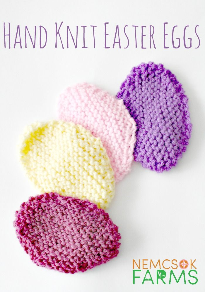 Hand Knit Easter Eggs | Knitting patterns, Easter and Egg
