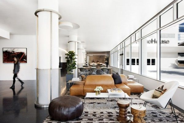 Modern living space/reception area #furniture at NeueHouse Hollywood