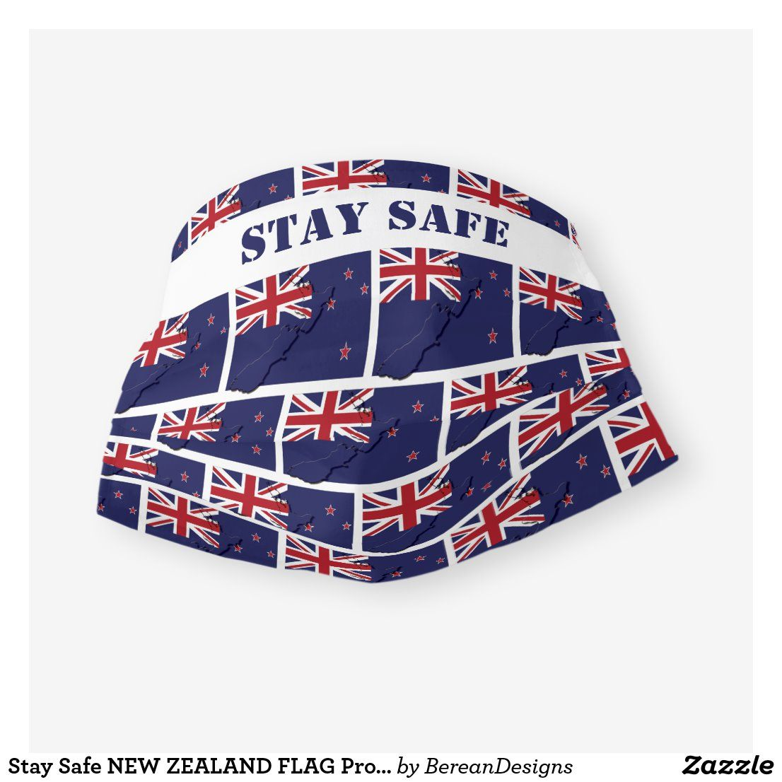 Stay Safe NEW ZEALAND FLAG Protection Customizable Cloth