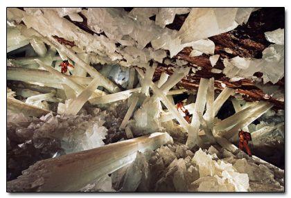 Cueva de los Cristales in Chihuahua, Mexico