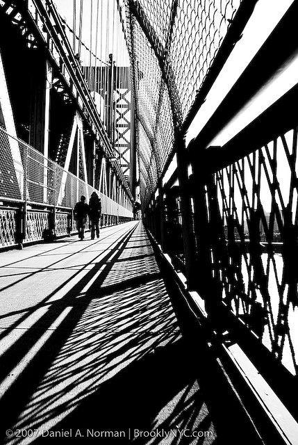 new york art photography Manhattan Bridge by Daniel A. Norman, via Flickr