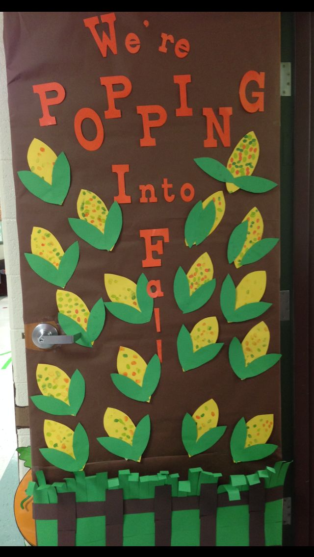 Fall classroom door school pinterest fall classroom for Autumn classroom door decoration ideas
