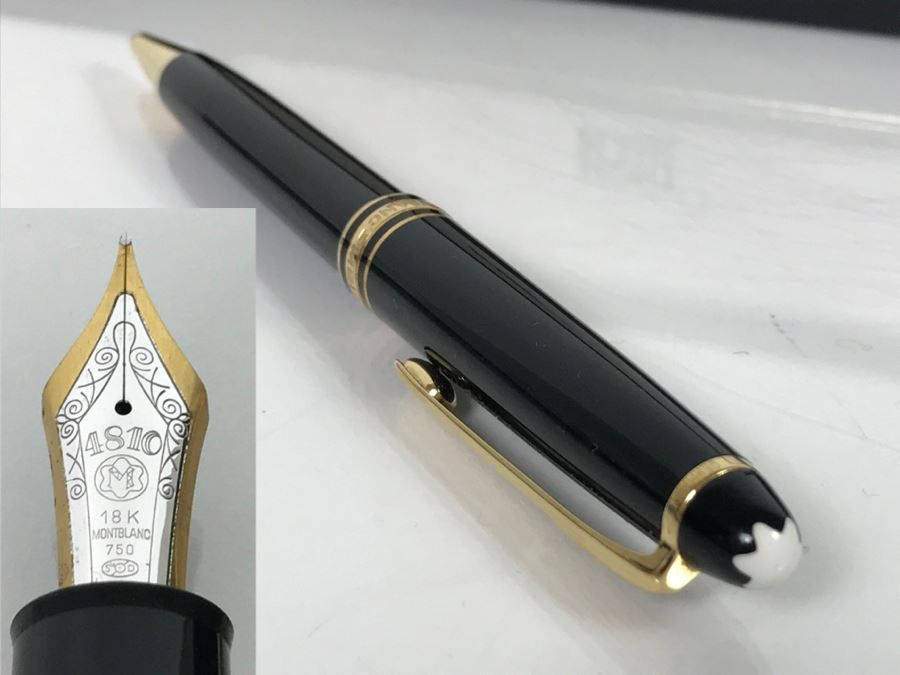 Montblanc Meisterstuck No 149 Fountain Pen With 18k Gold Nib 4810 Online Estate Sales Auction Items 18k Gold