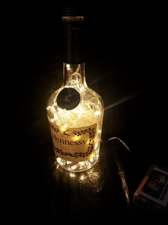 Upcycled Hennessy Special Cognac Bottle by AfterGlowsByStacey, £22.00
